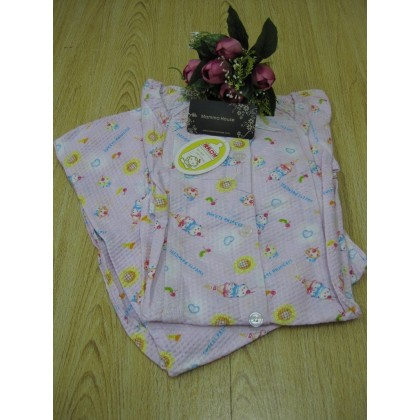 Maternity Nursing Pajamas - Long Cherry Pink (1 set)