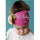 Baby Headband - Rose Unique Yellow
