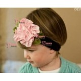 Baby Headband - Flower Brown Pink