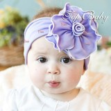 Baby Headband - Flower Sun Purple