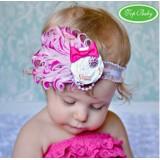 Baby Headband - Plume Rose Pink