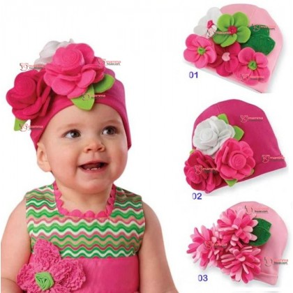 Baby Hat - Lovely Flower 3