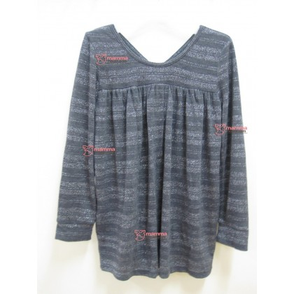 Nursing Tops - Long JP Silver Dark Grey