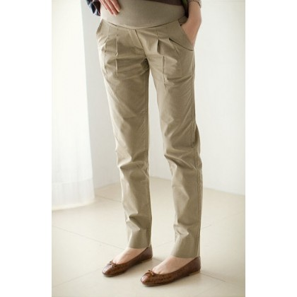 Maternity Pants - Working Long Khaki (S~XXL)
