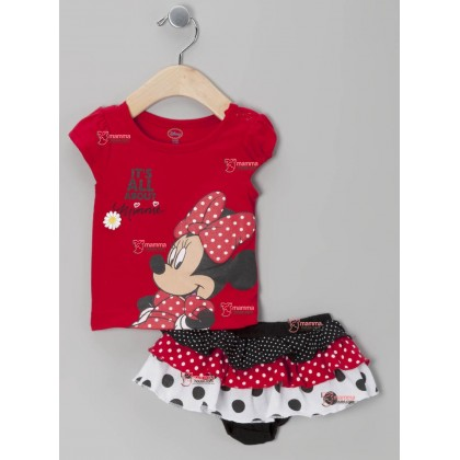 Baby Clothes - Romper Minnie Red 2 pcs