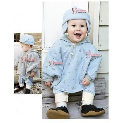 Baby Cloak - 2 way Grey-Blue