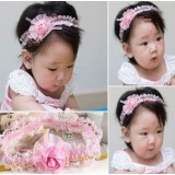 Baby Headband - Lace Rose