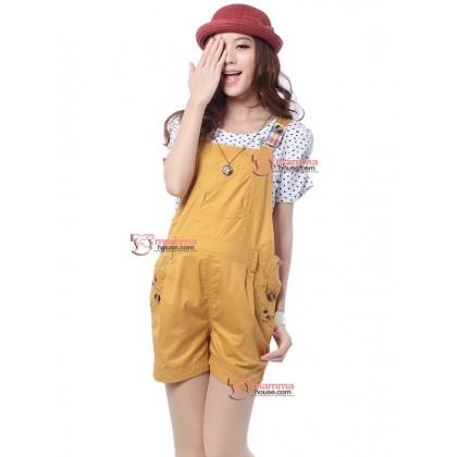 Maternity Shorts - Strape Yellow