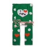 Baby Tights - Love Papa Green