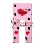 Baby Tights - Love Mom Pink Polka