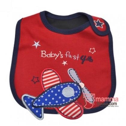 Baby Bib - Red Plane
