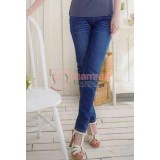 Postnatal Jeans - Front Button Blue