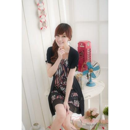 Nursing Dress - Joy Short Black