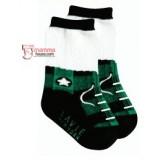Baby Sock - boy shoe Black-Green