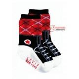 Baby Sock - boy shoe Black-Red