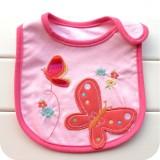 Baby Bib - Pink 2 Butterflies