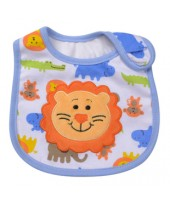 Baby Bib - Blue Lion