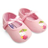 Baby Shoes - Kitty Grid Pink