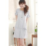 Nursing Dress - Simple Pocket Grey