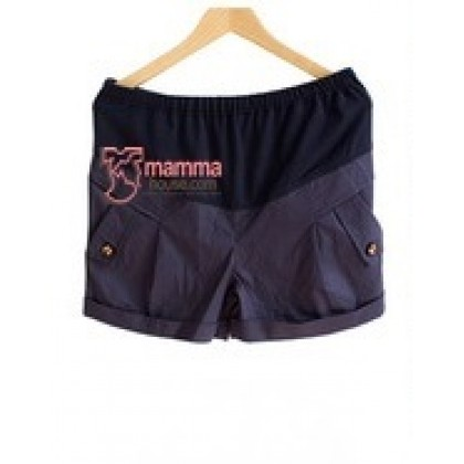 Maternity Shorts - Pocket Butterfly Dark Blue