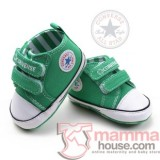 Baby Shoes - Converse Green