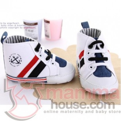 Baby Shoes - White 2 Anchor