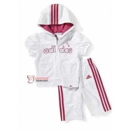 Baby Clothes - 2 pcs White Pocket Adidas