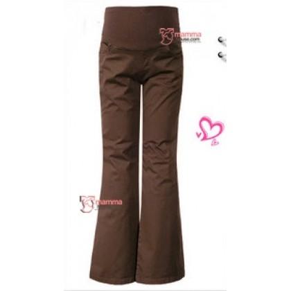 Maternity Pants - Working Trumpet Dark Brown