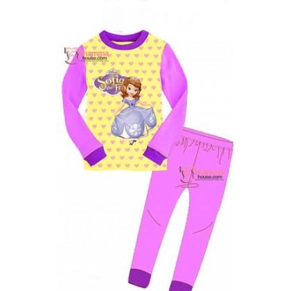 Baby Pajamas - Sopia Long Yellow (2-7yrs)