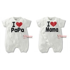 Baby Clothes - Romper Love Mama or Papa Romper