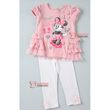 Baby Clothes - 2 pcs Sweet Pink Lace Minnie