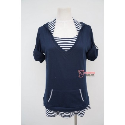 Nursing Tops - JP Cotton Hat Dark Blue