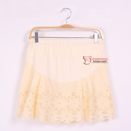 Maternity Shorts - Korean Lace Yellow