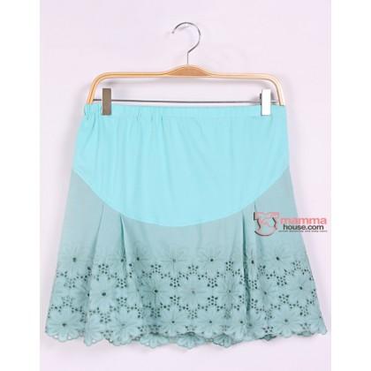 Maternity Shorts - Korean Lace Green