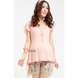 Maternity Tops - Swallow Chiffon Pink