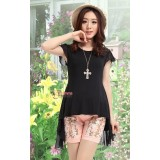 Maternity Tops - Swallow Chiffon Black