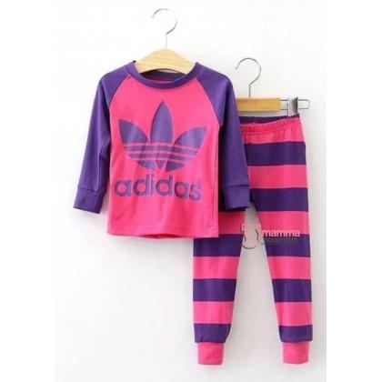 Baby Pajamas - Long Adi Dark Pink (2-7yrs)