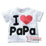 Baby Tops - Love Papa Tops White