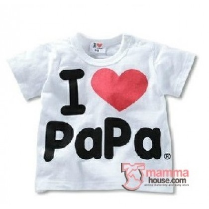 Baby Tops - Love Papa Tops White