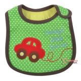 Baby Bib - Little Driver Green