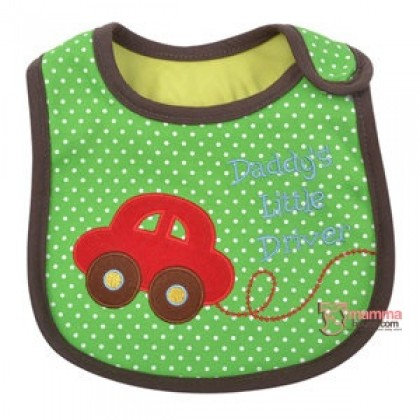 Baby Bib - Little Driver Green