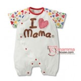 Baby Clothes - Romper Love Mama Colorful