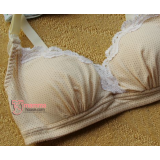 T Nursing Bra - Japanese PO Lace Dot Yellow