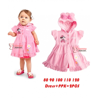 Baby Clothes - Dress Minnie Pink Dress