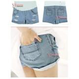Maternity Shorts - Light Blue Jeans Fold