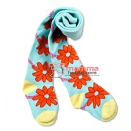 Baby Hose - Blue Flora Orange