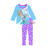 Baby Pajamas - 2 pcs Long Elsa Blue Purple