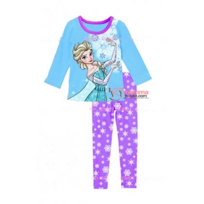 Baby Pajamas - 2 pcs Long Elsa Blue Purple