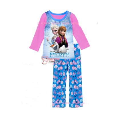 Baby Pajamas - 2 pcs Long Anna Elsa Blue Pants