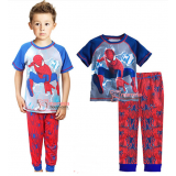 Baby Pajamas - Spiderman Grey Red Short